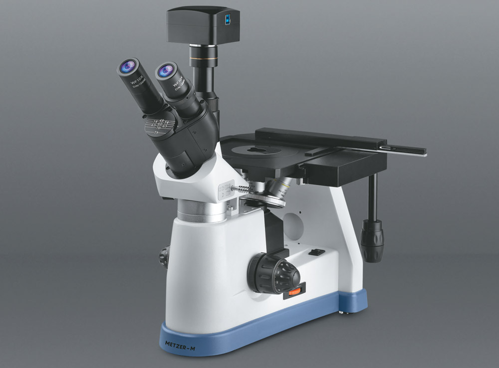ADVANCED CO - AXIAL INVERTED TRINOCULAR METALLURGICAL MICROSCOPE VISION PLUS - 5000 ITM (ELITE)