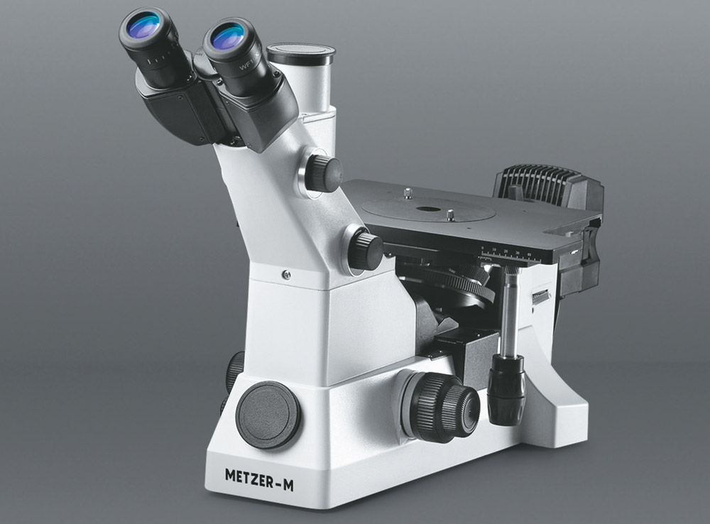 ADVANCED CO - AXIAL INVERTED TRINOCULAR METALLURGICAL MICROSCOPE VISION PLUS - 5000 ITM (STAR)