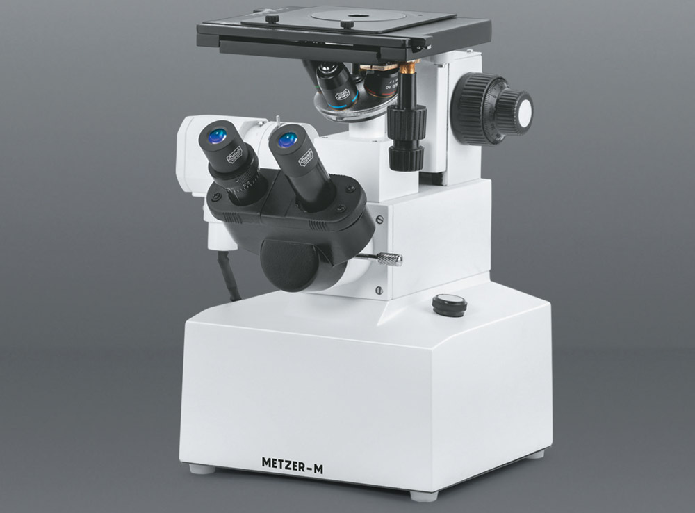 CO - AXIAL INVERTED BINOCULAR METALLURGICAL MICROSCOPE VISION PLUS - 5000 IBM