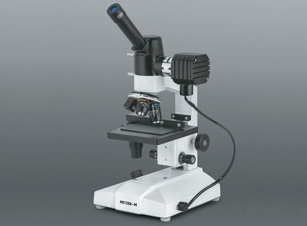 INCLINED MONOCULAR METALLURGICAL MICROSCOPE
